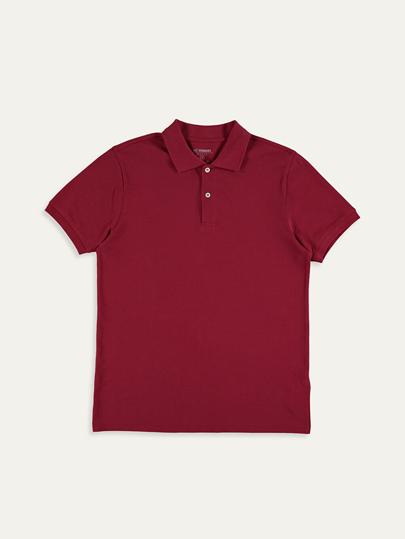 Kırmızı Polo Yaka Basic Pike Tişört 9SP889Z8 LC Waikiki