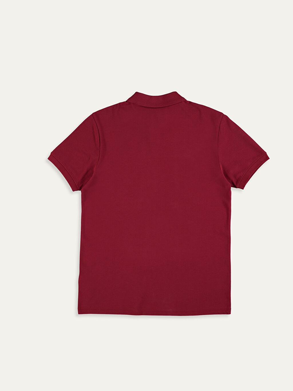 %100 Pamuk %100 Pamuk Standart Tişört Pike Polo Yaka Kısa Kol Düz Polo Yaka Basic Pike Tişört