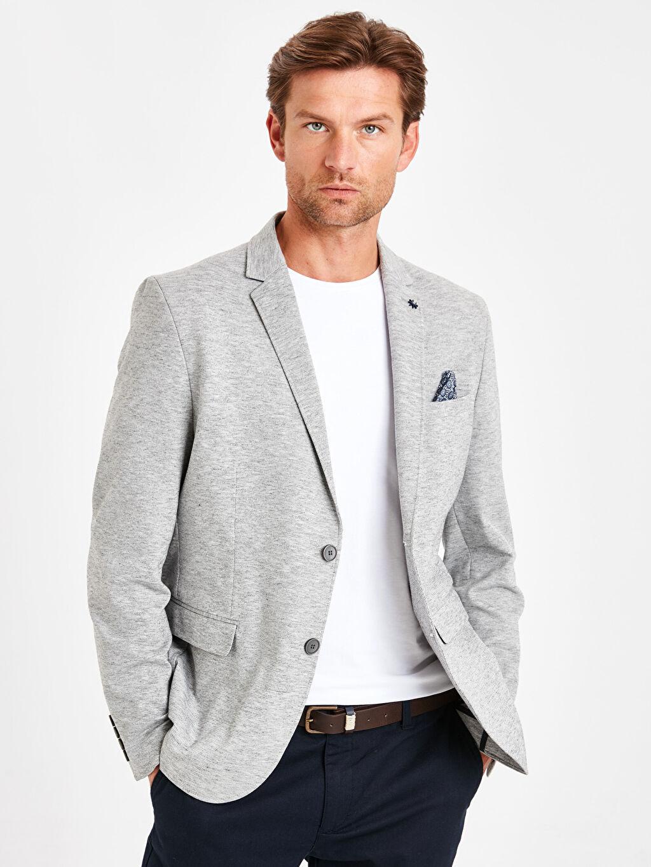 %85 Poliester %10 Viskoz %5 Elastan %100 Polyester Basen Boy Ceket İnce Kapüşonsuz Taffeta Astar Ceket Yaka Jacket Dar Kalıp Ceket
