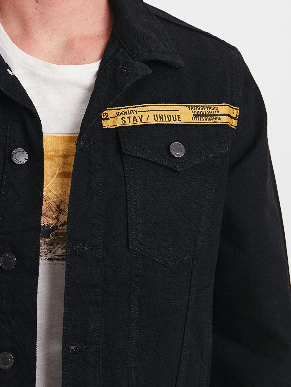 LC Waikiki Siyah Standart Kalıp Kısa Jean Ceket