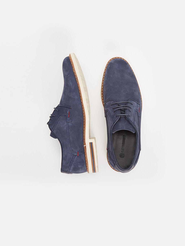 %100 Nubuk Deri Standart Bağcık Günlük Klasik Ayakkabı Deri Erkek Nubuk Hakiki Deri Derby Ayakkabı