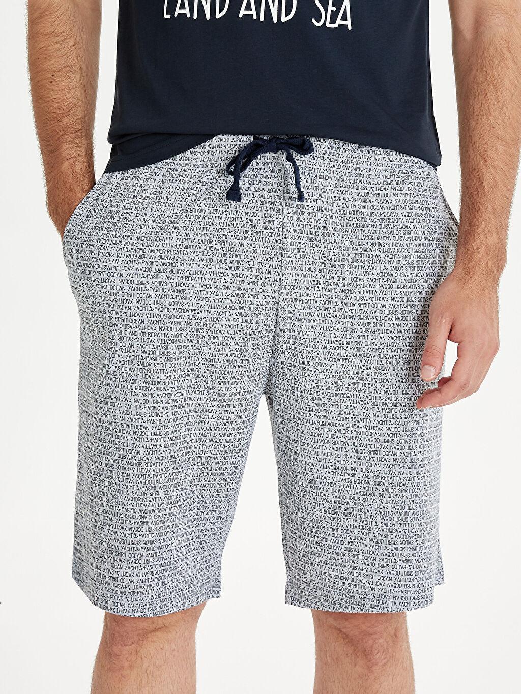 Erkek Standart Kalıp Baskılı Pijama Takım