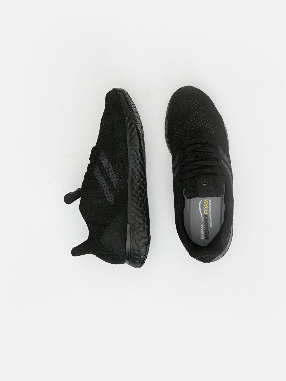 Erkek Letoon Erkek Bağcıklı Siyah Spor Ayakkabı