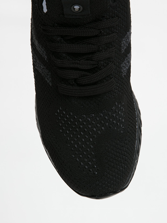 Siyah Letoon Erkek Bağcıklı Siyah Spor Ayakkabı