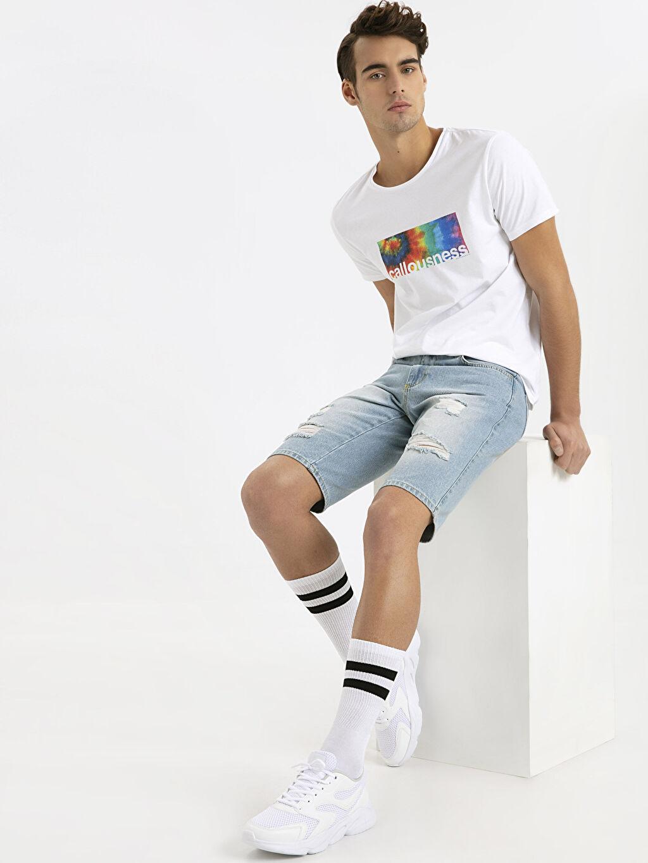 Beyaz Letoon Erkek Bağcıklı Spor Ayakkabı