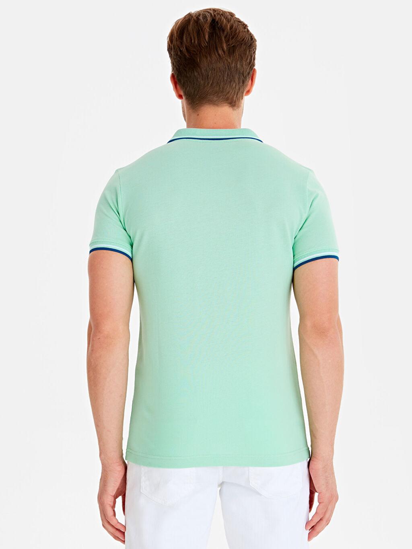 %100 Pamuk %100 Pamuk Dar Tişört Pike Polo Yaka Kısa Kol Düz Slim Fit Polo Yaka Pike Tişört