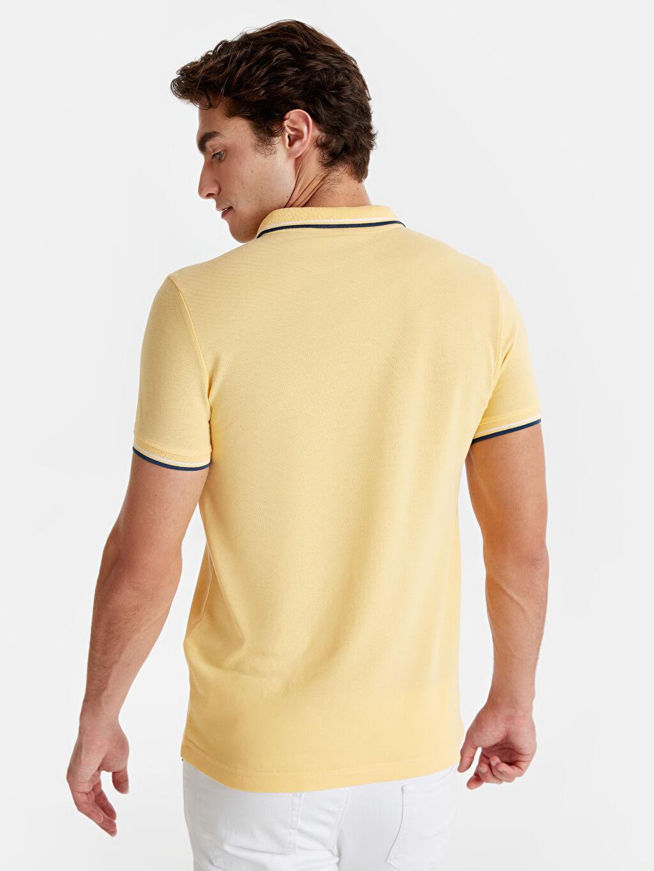 Erkek Slim Fit Polo Yaka Pike Tişört