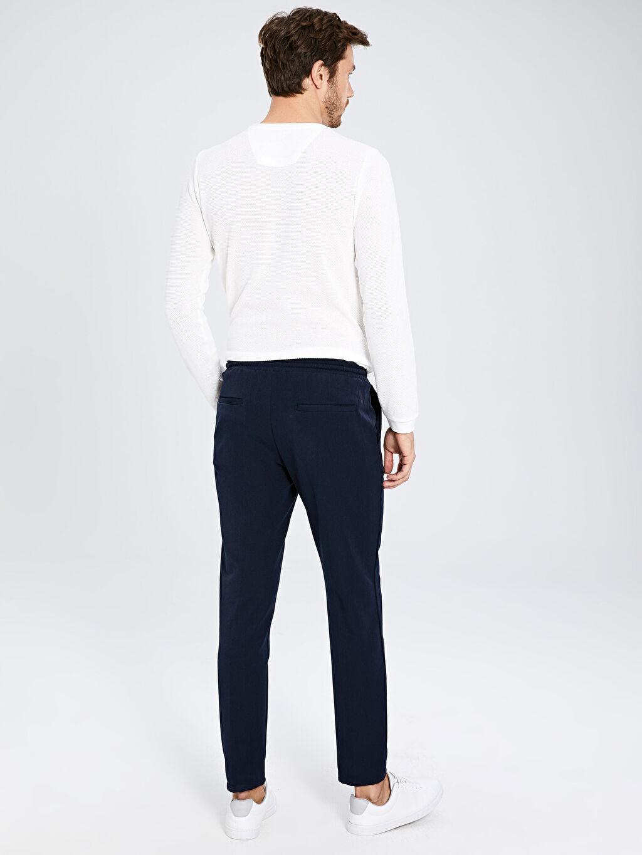Erkek Slim Fit Bilek Boy Poliviskon Pantolon