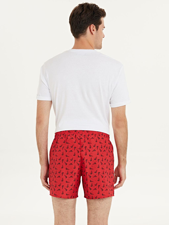 %100 Polyester %100 Polyester Kısa İnce Yüzme Şort Kısa Boy Baskılı Deniz Şortu