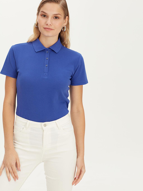 %100 Pamuk %100 Pamuk Standart Tişört Polo Yaka Kısa Kol Polo Yaka Pamuklu Tişört