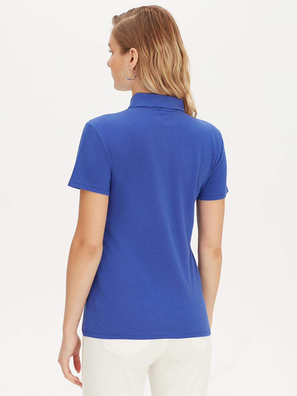 Kadın Polo Yaka Pamuklu Tişört