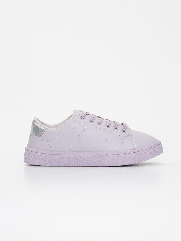 Diğer malzeme (poliüretan) Tekstil malzemeleri Sneaker Konforlu İç Taban Yuvarlak Burun 2 cm Kadın Bağcıklı Spor Ayakkabı