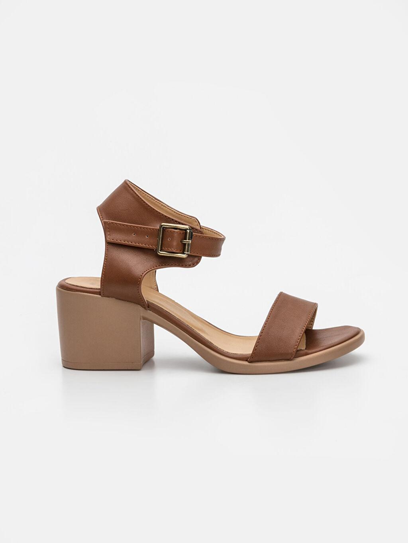 Bej Kadın Topuklu Sandalet 9SG859Z8 LC Waikiki