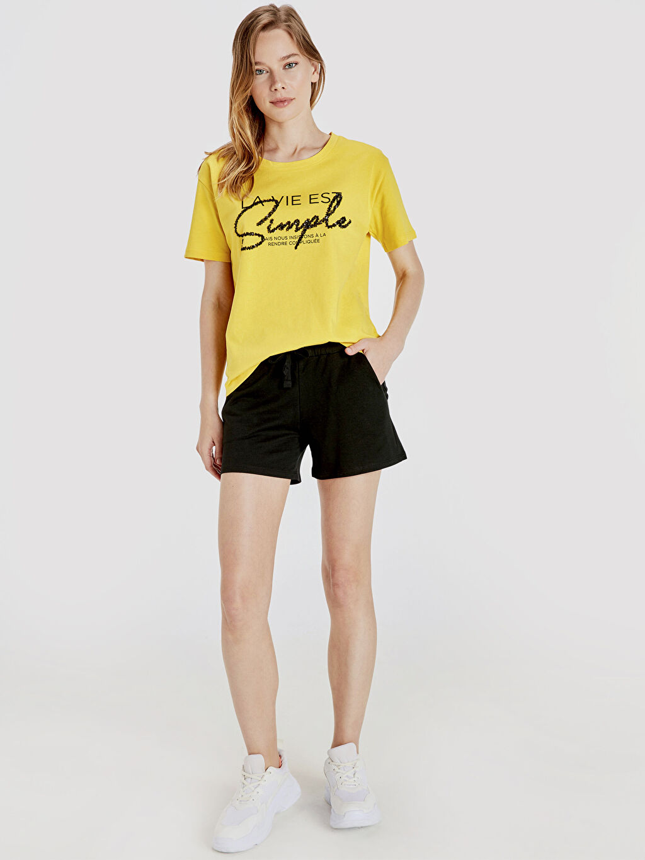 %100 Pamuk %100 Pamuk Şort Kısa Standart Normal Bel İnce Sweatshirt Kumaşı Beli Lastikli Pamuklu Şort