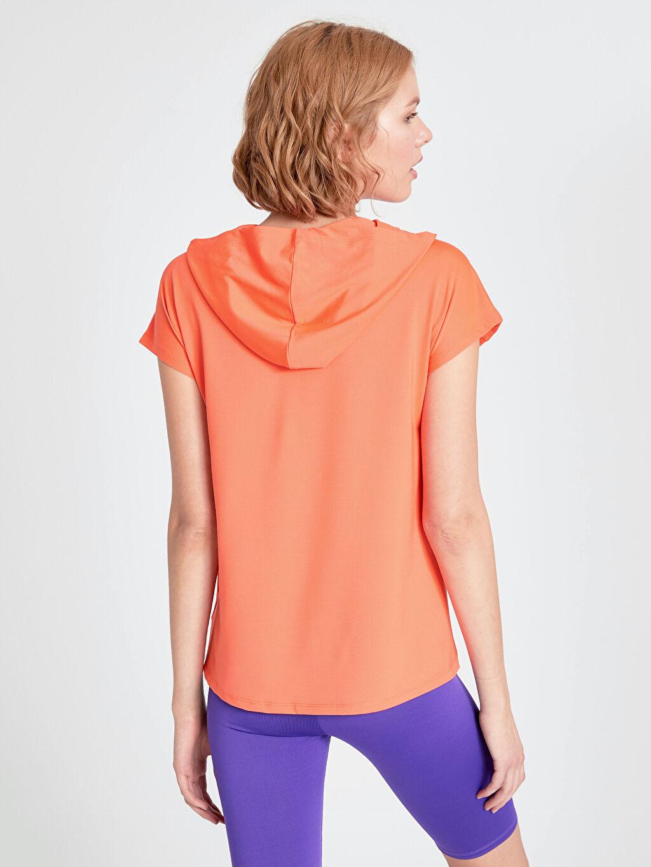 Kadın Kapüşonlu Neon Spor Tişört