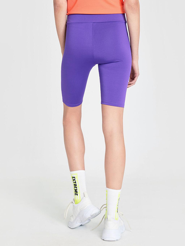 Kadın Neon Kısa Aktif Spor Tayt