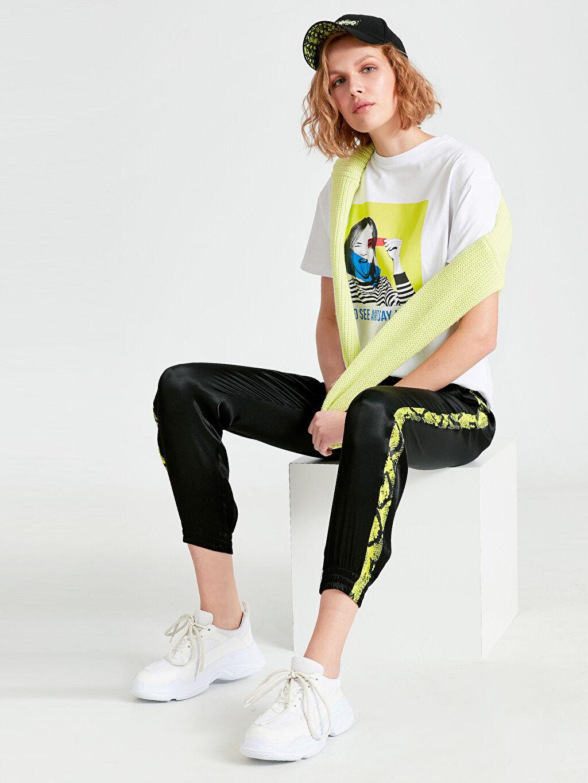 Siyah Yanları Neon Şeritli Jogger Havuç Pantolon 9SM243Z8 LC Waikiki