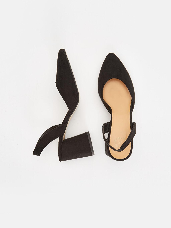 Tekstil malzemeleri Diğer malzeme (poliüretan) Uzun Düz Topuklu Ayakkabı Oval Burun 6 cm Kadın Topuklu Ayakkabı