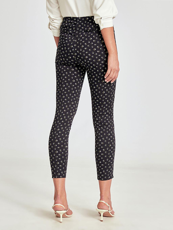 %66 Pamuk %31 Polyester %3 Elastan Desenli Bilek Boy Skinny Pantolon