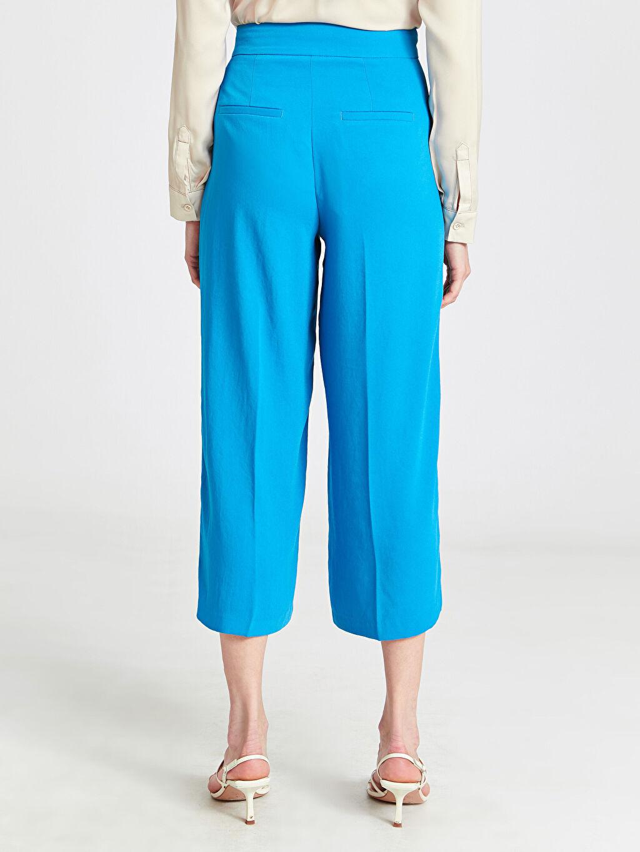 Kadın Bilek Boy Geniş Paça Pantolon