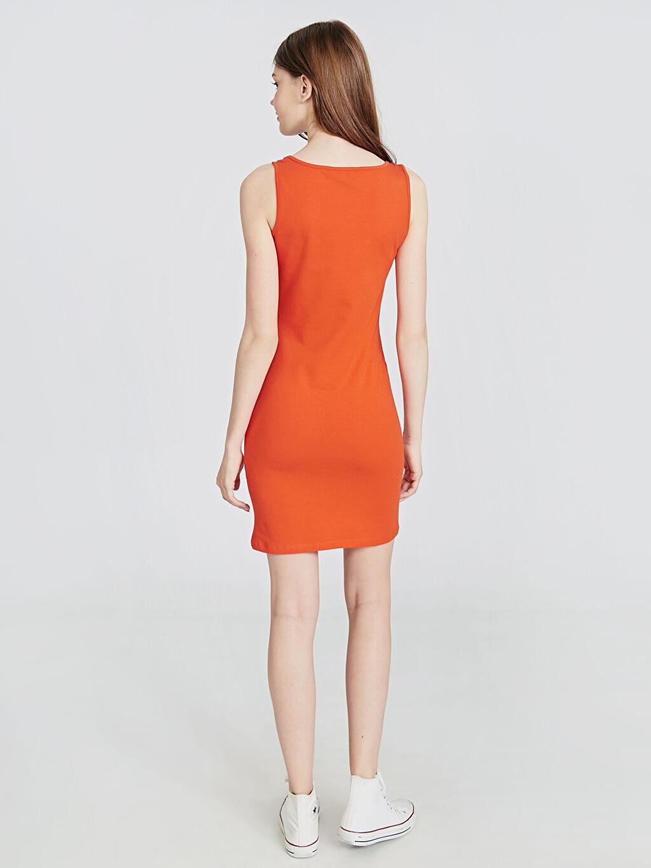 Kadın Esnek Pamuklu Mini Elbise