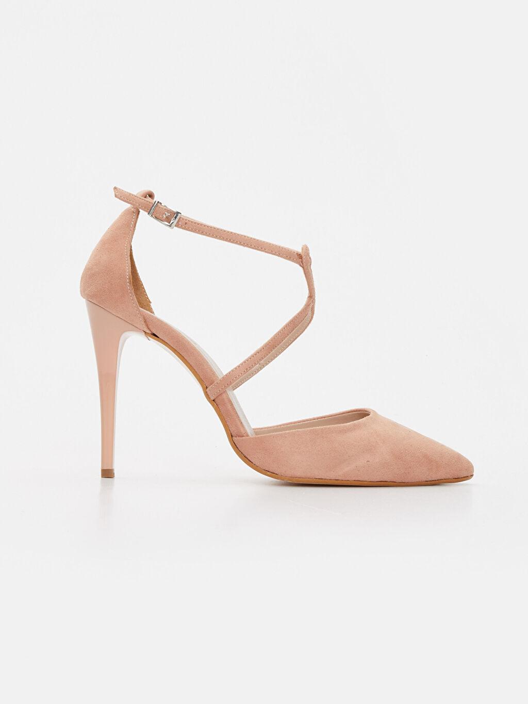 Diğer malzeme (poliüretan) Diğer malzeme (poliüretan) Stiletto Topuklu Ayakkabı Düz 5 cm Kadın Çapraz Bantlı Stiletto Ayakkabı
