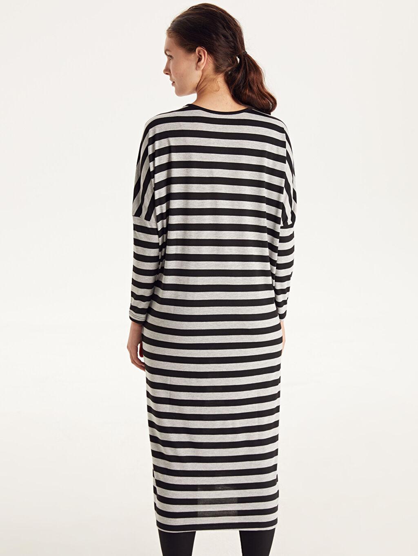 Kadın Çizgili Salaş Elbise