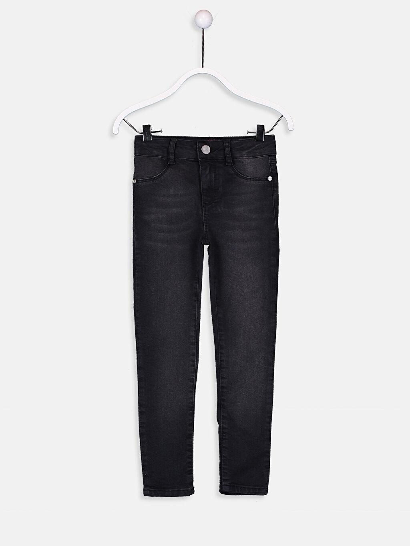 Siyah Kız Çocuk Skinny Jean Pantolon 9S0747Z4 LC Waikiki