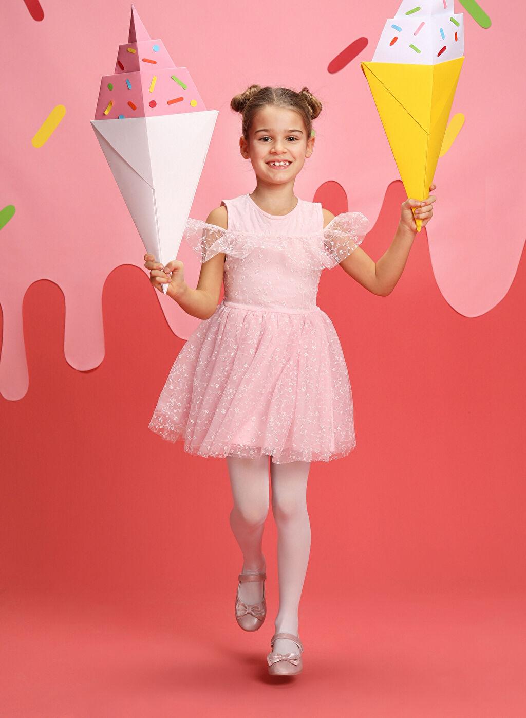 Pembe 23 Nisan Kız Çocuk Pembe Tütü Elbise 9S1654Z4 LC Waikiki