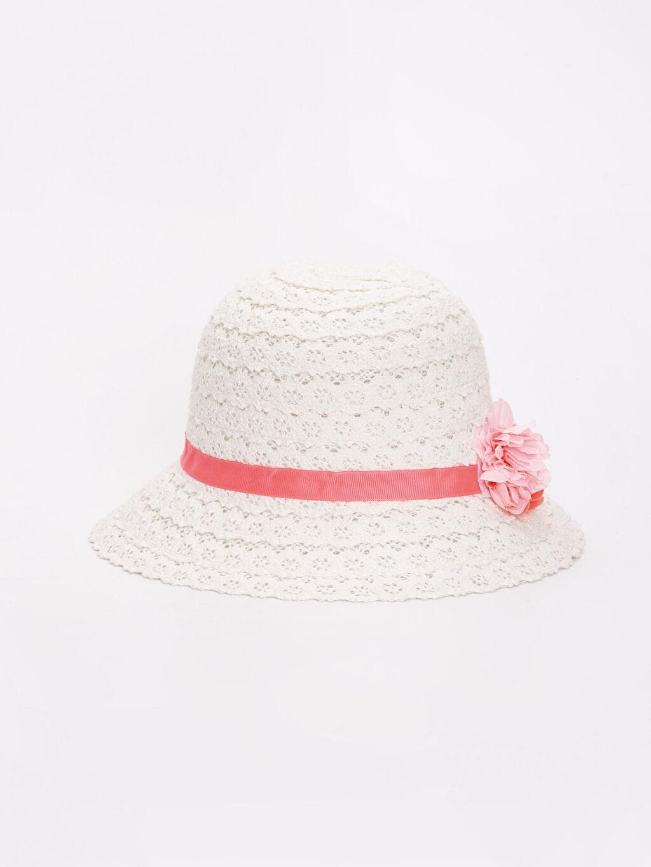 Beyaz Kız Çocuk Hasır Şapka 9S1659Z4 LC Waikiki