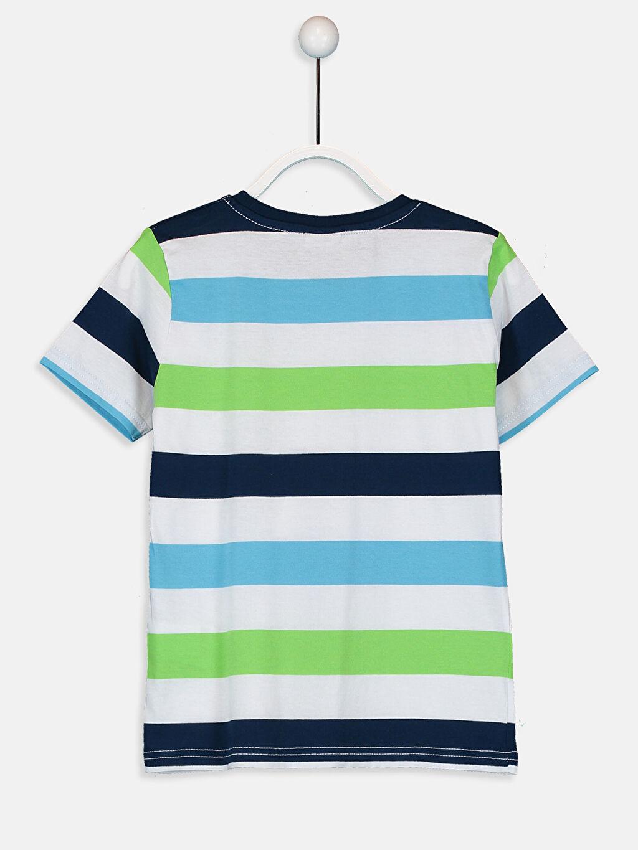 %99 Pamuk %1 Polyester %100 Pamuk Çizgili Süprem Tişört Bisiklet Yaka Standart Erkek Çocuk Çizgili Pamuklu Tişört