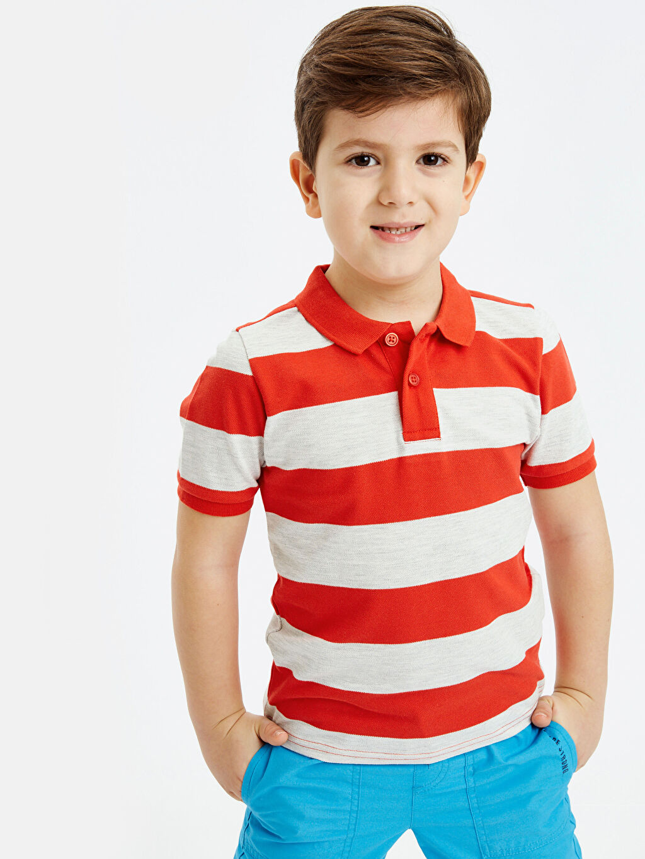 Erkek Çocuk Erkek Çocuk Çizgili Basic Tişört