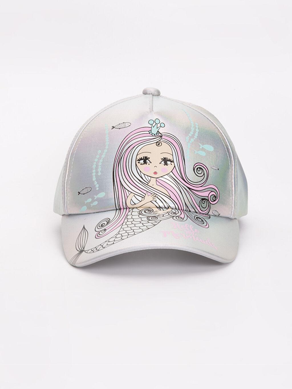 Şapka Kep Kız Çocuk Parlak Görünümlü Desenli Çanta
