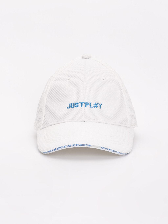 %98 Polyester %2 Elastan Düz Şapka Kep Erkek Çocuk Yazı Baskılı Şapka