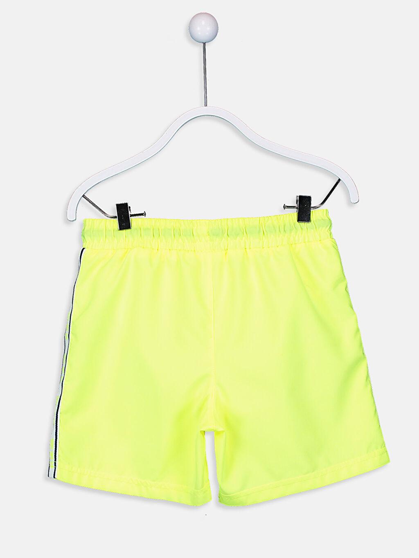 %100 Polyester %100 Polyester Mikrofiber Standart Plaj Düz Midi Yüzme Şort Erkek Çocuk Deniz Şortu