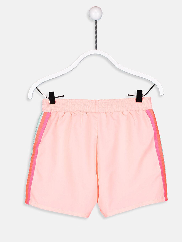 %100 Polyester Yüzme Şort Düz Standart Kız Çocuk Deniz Şortu