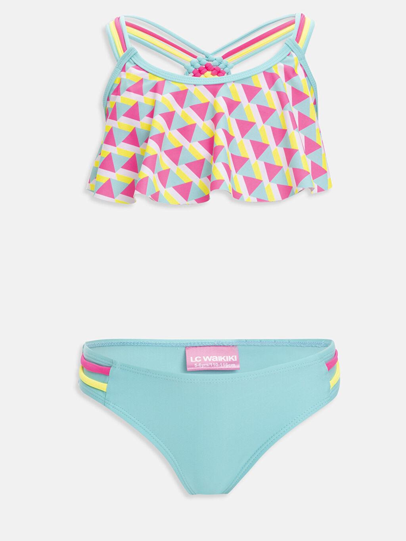 Pembe Kız Çocuk Desenli Bikini 9S4580Z4 LC Waikiki