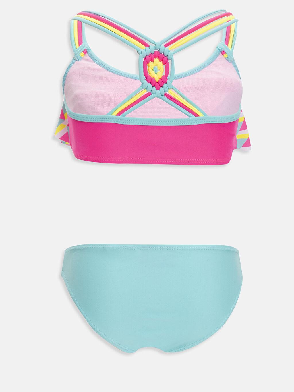 %85 Polyester %15 Elastan %100 Polyester Bikini Baskılı Bikini Aksesuarsız Kız Çocuk Desenli Bikini