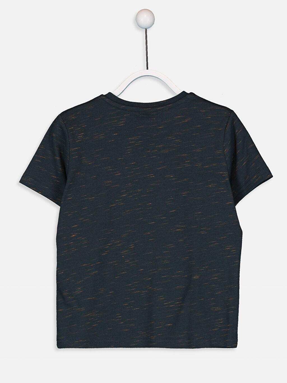 %98 Pamuk %2 Polyester Kısa Kol Standart Baskılı Tişört Bisiklet Yaka Erkek Çocuk Baskılı Pamuklu Tişört