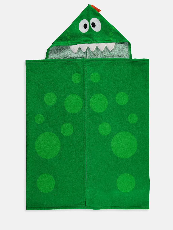 Yeşil Erkek Çocuk Kadife Kaftan 9S5625Z4 LC Waikiki