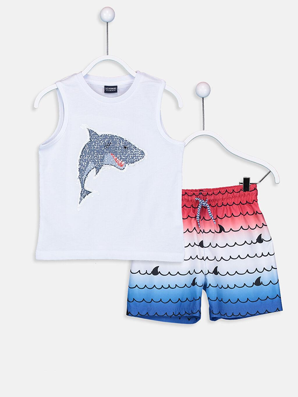 %100 Pamuk %100 Polyester %100 Polyester %100 Pamuk Baskılı Yüzme Takım Plaj Midi Mikrofiber Standart Erkek Çocuk Baskılı Yüzme Takım