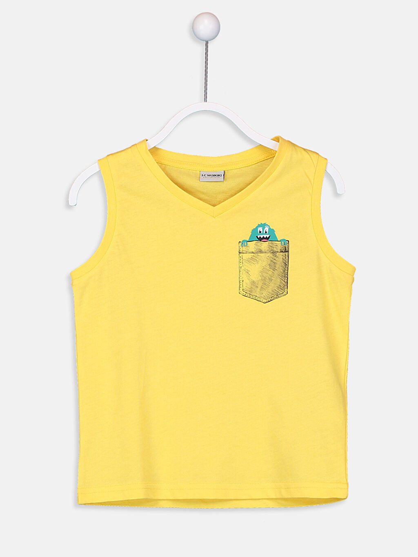 Sarı Erkek Çocuk V Yaka Basic Atlet 9S7988Z4 LC Waikiki