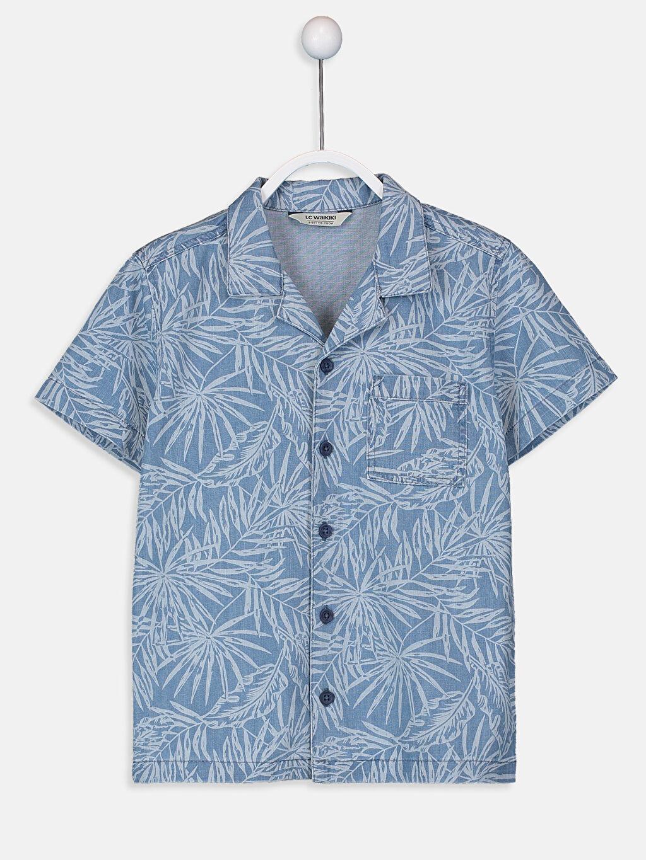 İndigo Erkek Çocuk Desenli Gömlek 9S9520Z4 LC Waikiki