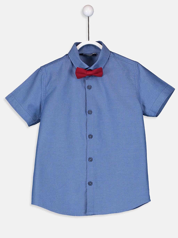 Mavi Erkek Çocuk Oxford Gömlek ve Papyon 9SG622Z4 LC Waikiki