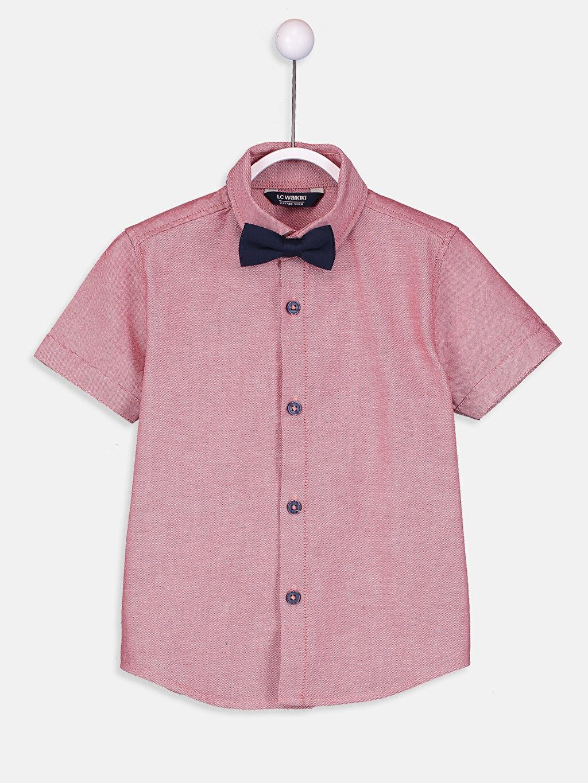 Kırmızı Erkek Çocuk Oxford Gömlek ve Papyon 9SG624Z4 LC Waikiki