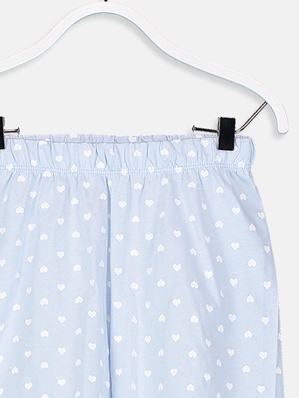 LC Waikiki Mavi Kız Çocuk Pamuklu Pijama Takımı