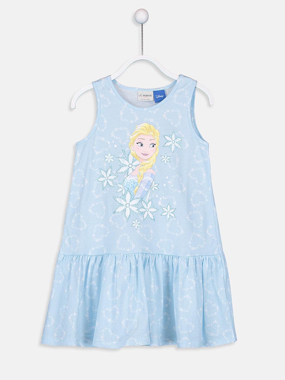 Kız Çocuk Frozen Elbise 2'li