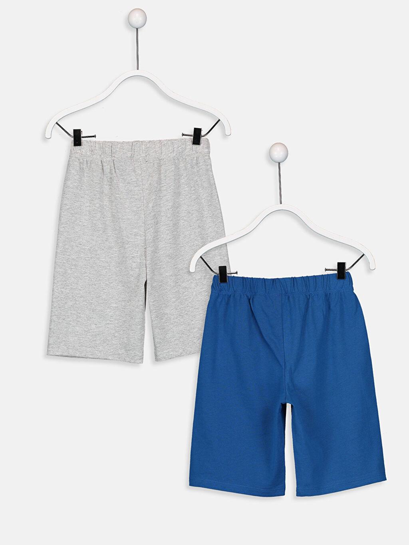 %47 Pamuk %53 Polyester Penye Pijama Alt Günlük Erkek Çocuk Justice League Şort 2'li
