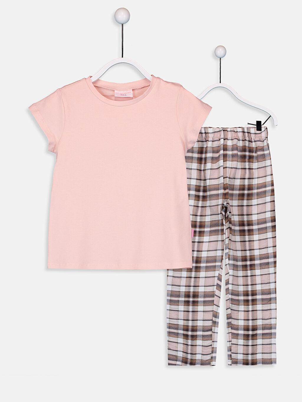 Pembe Kız Çocuk Pamuklu Pijama Takımı 9SR914Z4 LC Waikiki