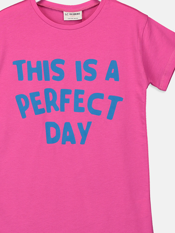 Kız Çocuk Kız Çocuk Yazı Baskılı Tişört